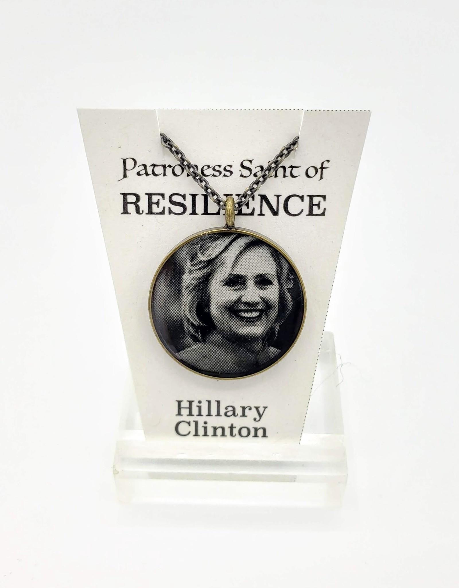 Redux Hillary Clinton Patroness Saint Pendant Necklace