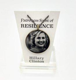 Hillary Clinton Patroness Saint Pendant Necklace