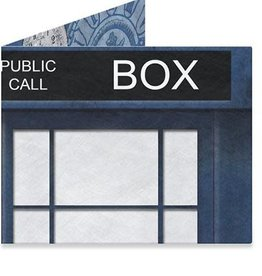 "Dynomighty Design ""Blue Police Box"" Dynomighty Tyvek Wallet"