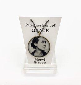 Redux Meryl Streep Patroness Saint Pendant Necklace