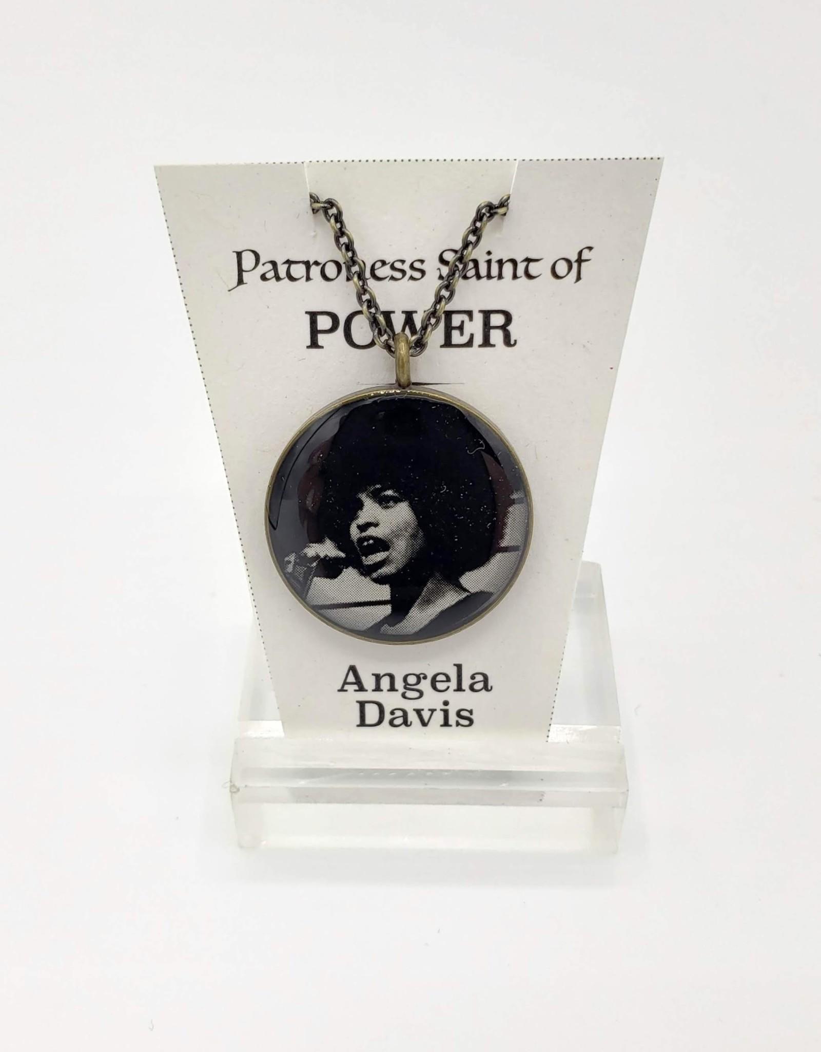 Redux Angela Davis Patroness Saint Pendant Necklace