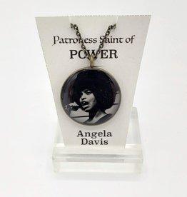 Angela Davis Patroness Saint Pendant Necklace