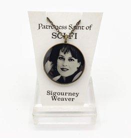 Sigourney Weaver Patroness Saint Pendant Necklace