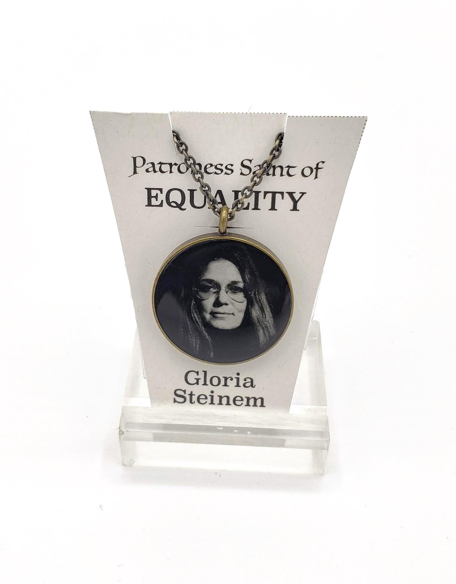 Redux Gloria Steinem Patroness Saint Pendant Necklace