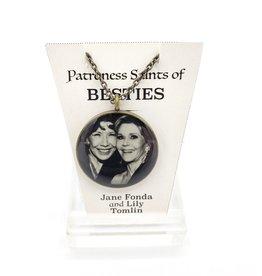 Jane Fonda + Lily Tomlin Patroness Saint Pendant Necklace