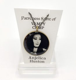 Redux Anjelica Huston Patroness Saint Pendant Necklace