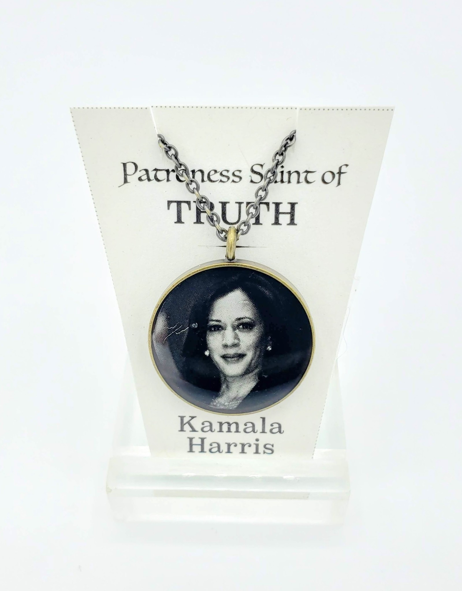 Redux Kamala Harris Patroness Saint Pendant Necklace