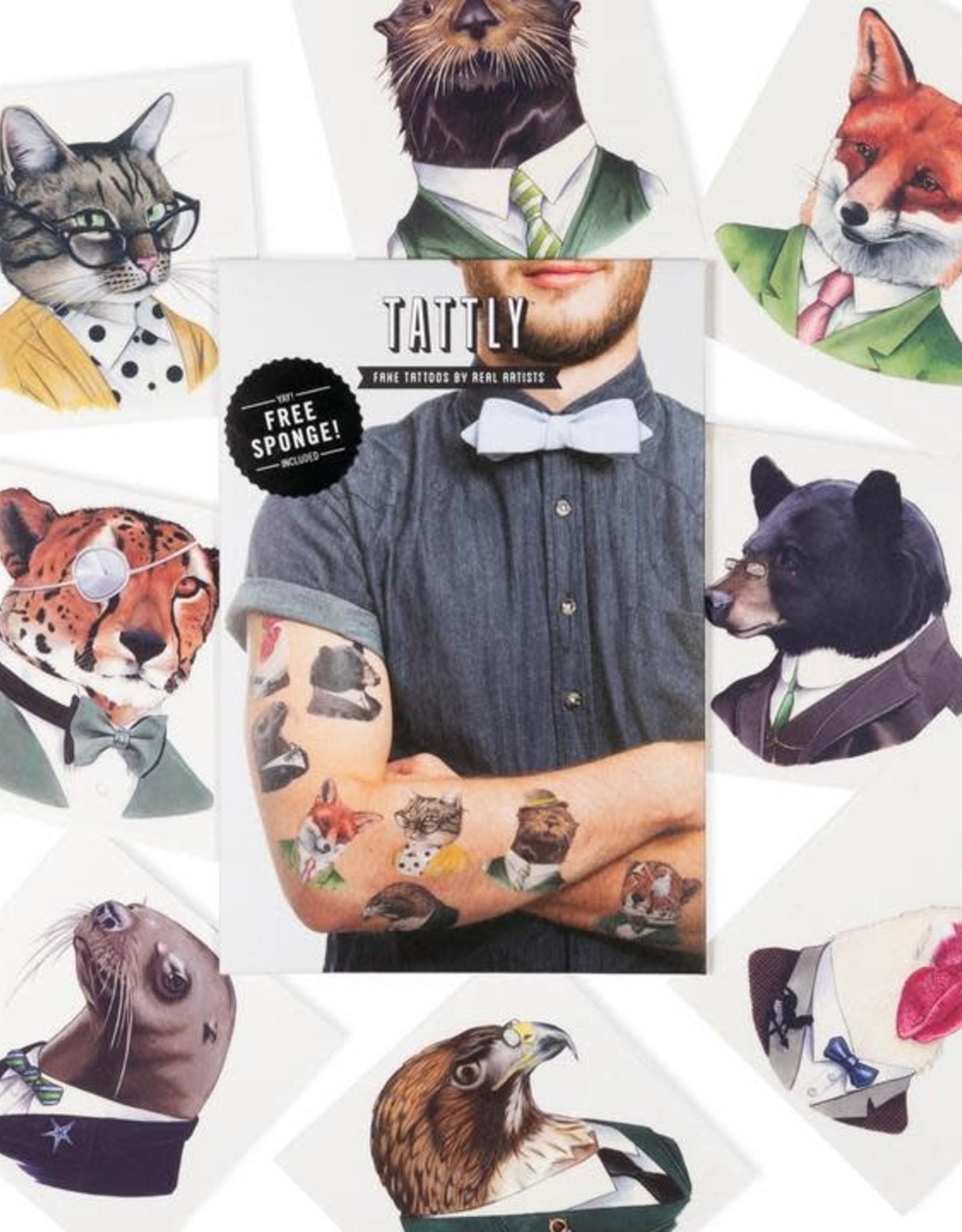 Tattly Animal Society by Berkley Illustration - Tattly Temporary Tattoo Pack
