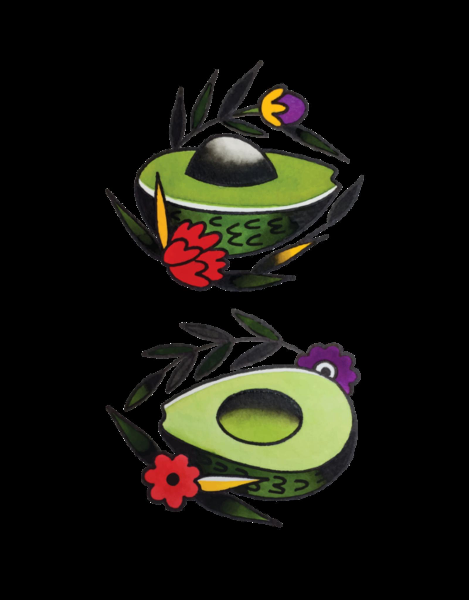 Tattly Avocado Flash by Jessi Preston - - Tattly Temporary Tattoos (Pairs)