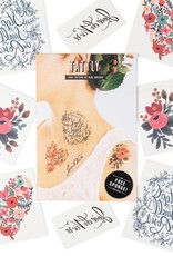 Tattly Floral Set by Rifle Paper Co. - Tattly Temporary Tattoo Pack