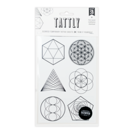 Tattly Sacred Geometry - Tattly Temporary Tattoo Pack