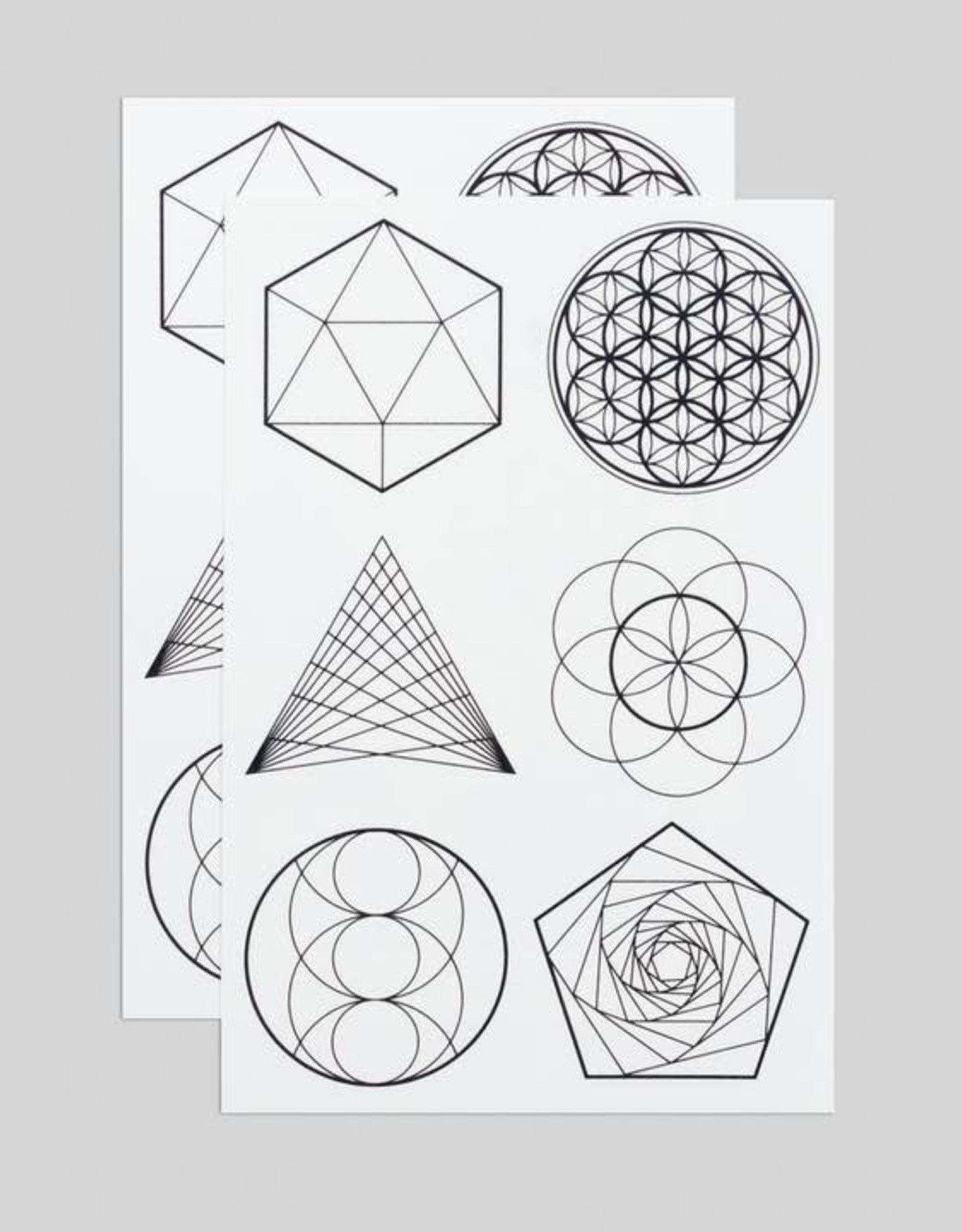 Tattly Sacred Geometry - Tattly Temporary Tattoo Pack
