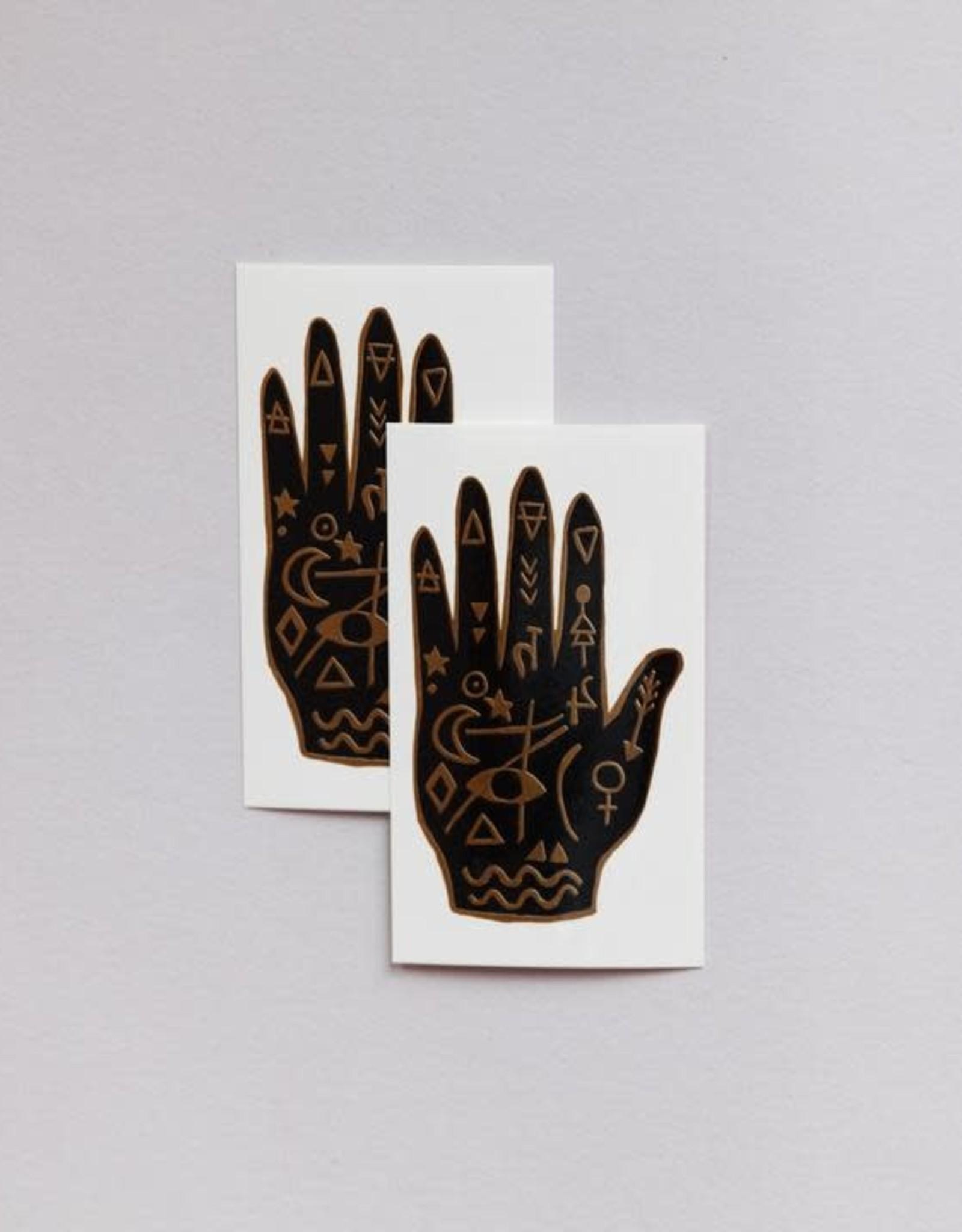 "Tattly ""Mystic Hand"" by Yellow Owl Workshop - Extra Tattly Temporary Tattoo (Pairs)"
