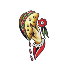 "Tattly ""Taco to Go"" by Jessi Preston - Tattly Temporary Tattoos (Pairs)"
