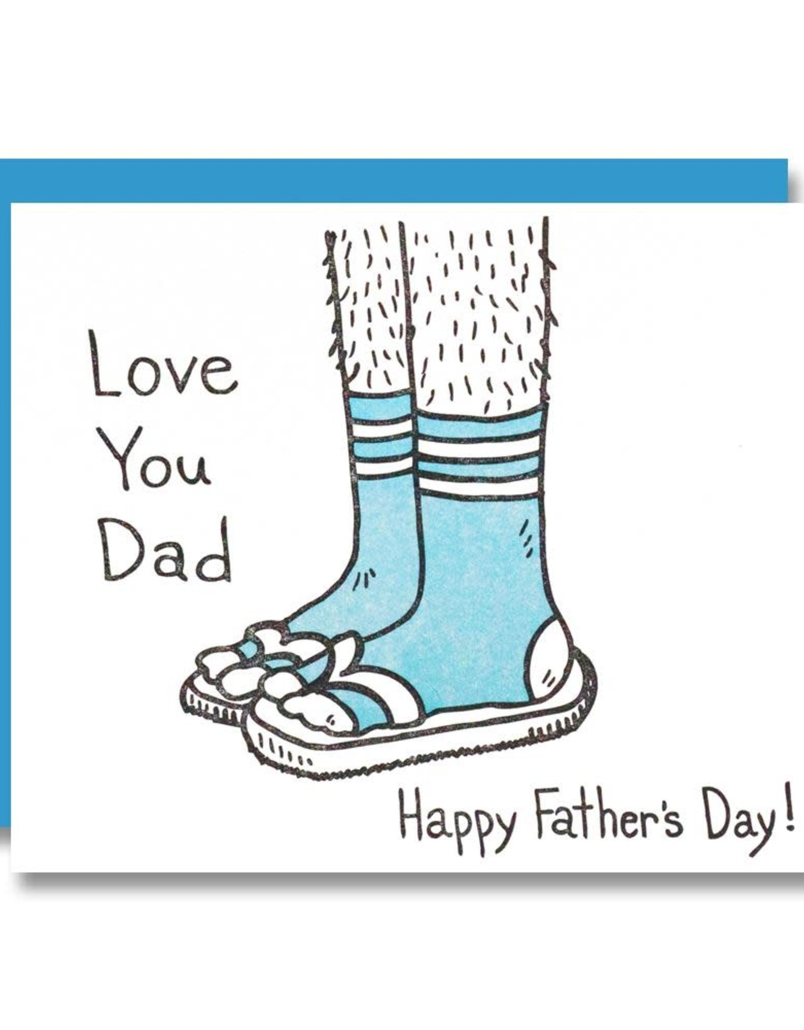 Love You Dad Happy Father's Day Greeting Card - Papa Llama