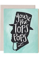 Tops Pops Father's Day Greeting Card - One Canoe Two