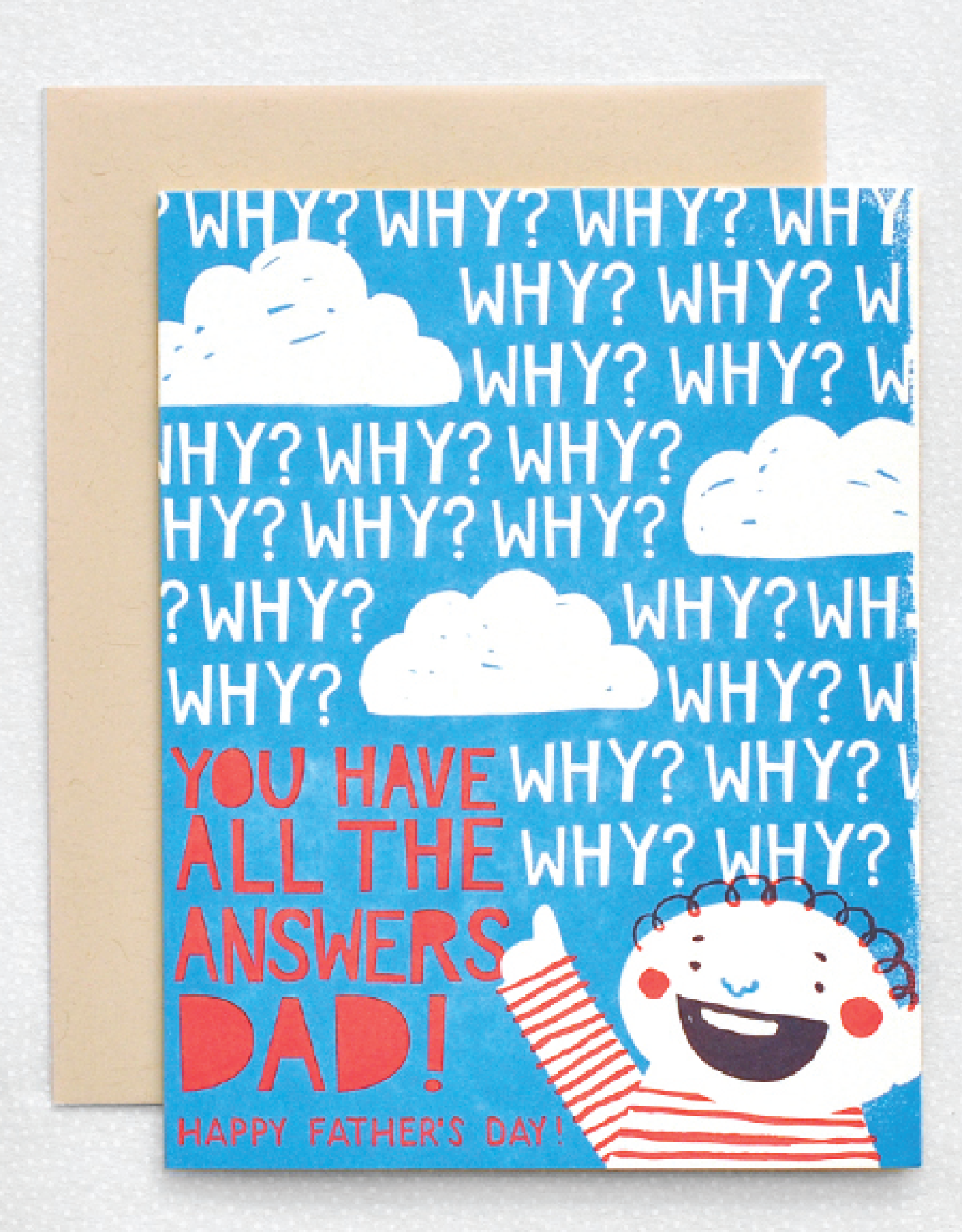 All the Answers Happy Father's Day Greeting card - Hello Lucky