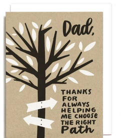 Choose the right path Happy Father's Day Greeting Card - Worthwhile Paper