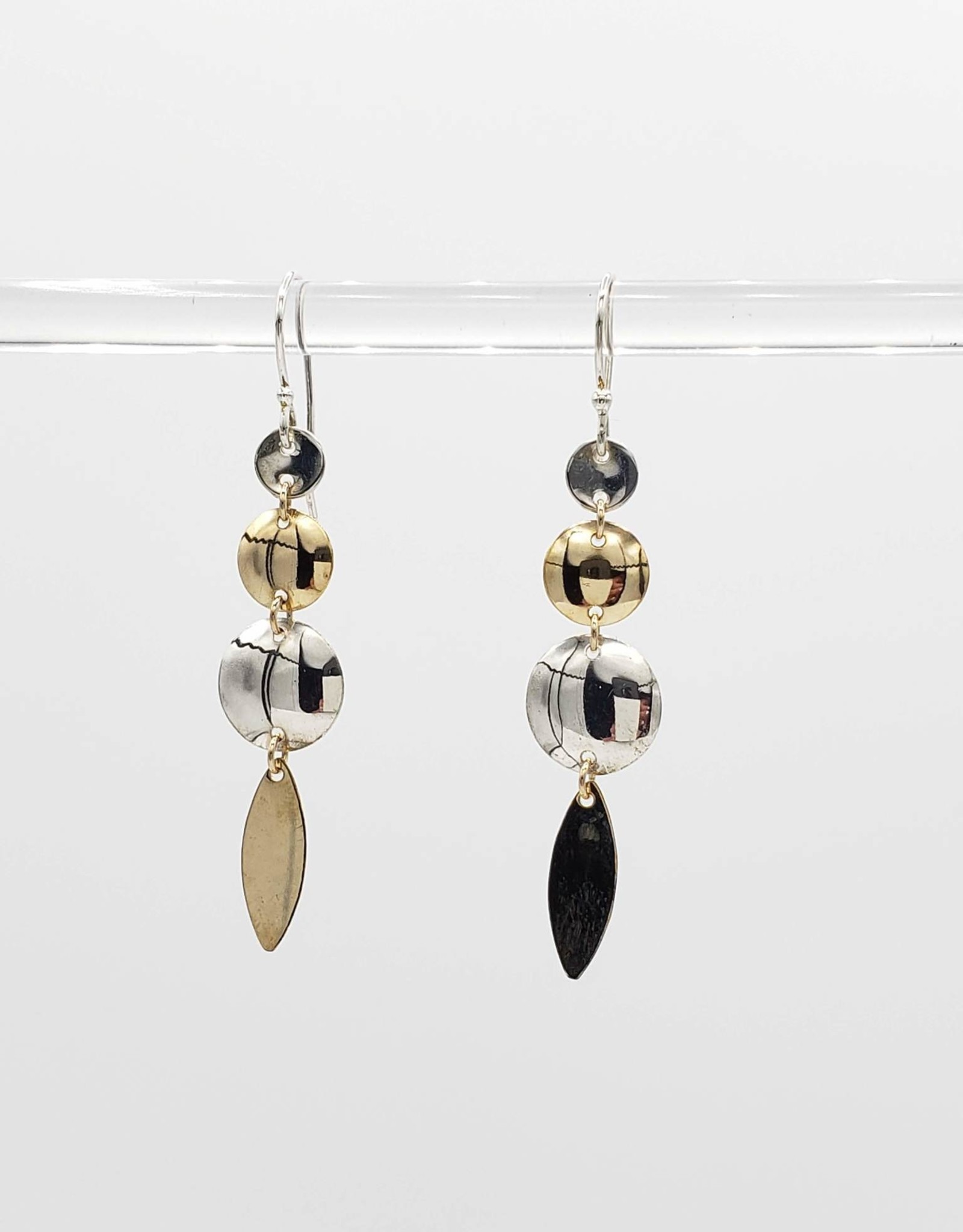 Peter James Jewelry Dangling Crockett Mixed Metal Earrings, Sterling + Gold Fill - Peter James Jewelry
