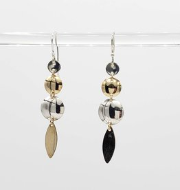 Peter James Jewelry Dangling Crockett Mixed Metal Earrings, Sterling + Gold Fill - Peter James Jewelry