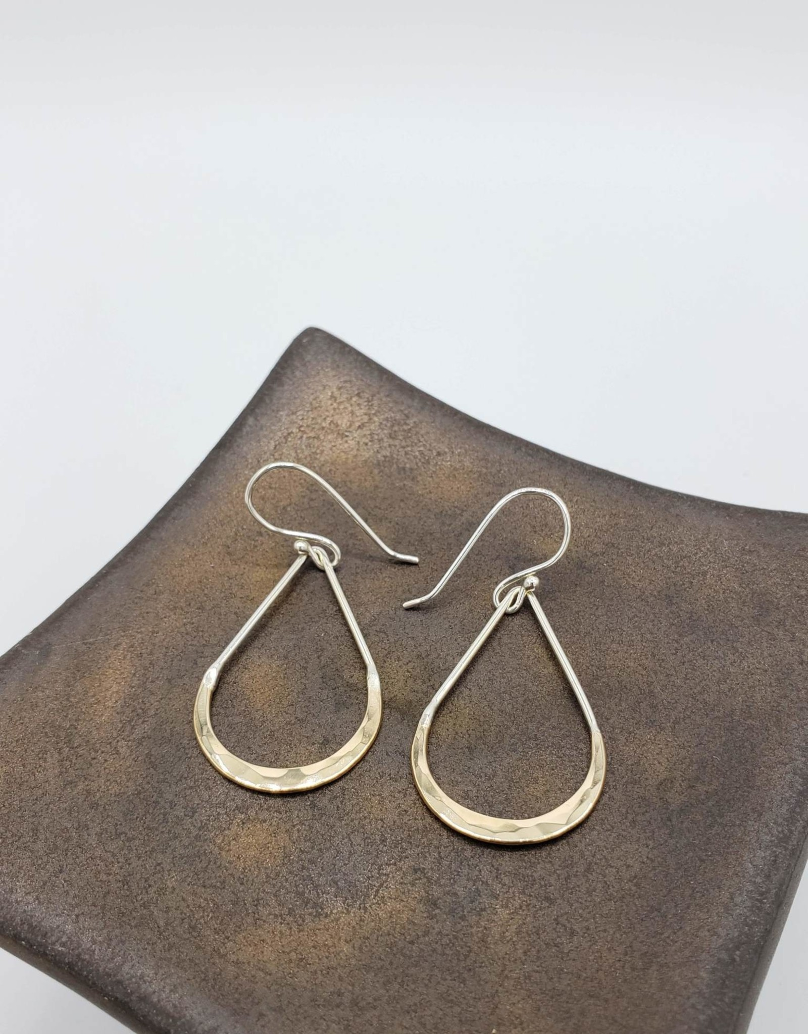 Peter James Jewelry Sterling Teardrop w/ Gold Fill Arch, Small - Peter James Jewelry