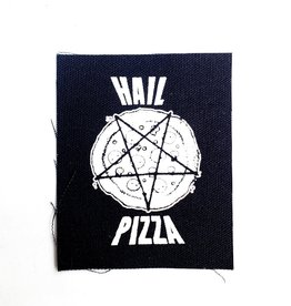 Print Ritual Hail Pizza Canvas Patch by Print Ritual