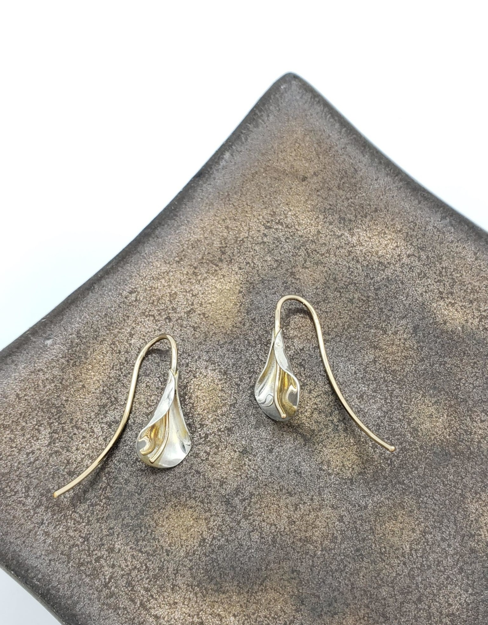 Peter James Jewelry Lily Earrings, Sterling Silver w/ Gold Fill Detail - Peter James Jewelry
