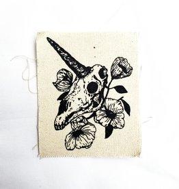 Print Ritual Unicorn Skull Canvas Patch by Print Ritual