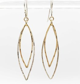 Peter James Jewelry Double Marquis Earrings, Sterling + Gold Fill - Peter James Jewelry