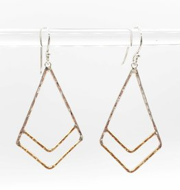 Peter James Jewelry Kite Dangle Earrings, Sterling Silver + Gold Fill - Peter James Jewlery