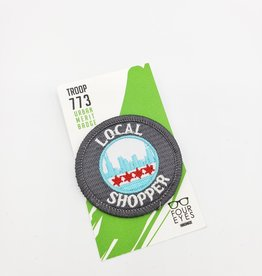 Local Shopper-  Iron on Patch by Four Eyes Handmade