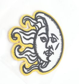 Sun & Moon Embroidered Iron On Patch