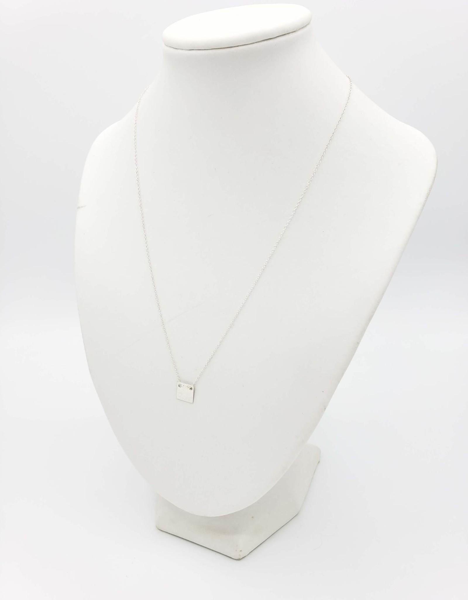 Annika Inez Delicate Square Necklace - Sterling Silver