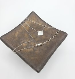 Annika Inez Delicate Square Necklace - Sterling Silver