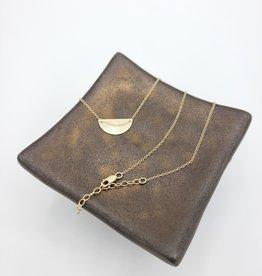 Annika Inez Delicate Half Circle Necklace - Gold Fill