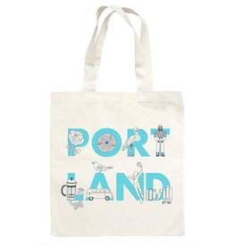 Maptote Portland Font Grocery Tote