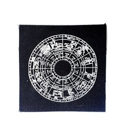 Print Ritual 12 Houses Astrological Chart canvas patch by Print Ritual