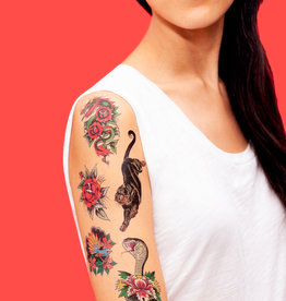 Tattly Traditional Tattoos by Tea Leigh- Tattly Temporary Tattoo Pack