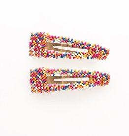 """Confetti Hair Clip, small open center clip 1"""" X 3.5"""""""