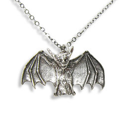 Ornamental Things Small Bat Necklace -Sterling Silver