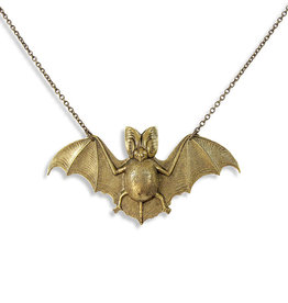 Ornamental Things Brass Bat Necklace