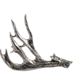 Pewter Mule Deer Antler Shed Pin/Brooch