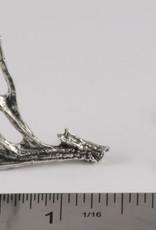 Pewter Mule Deer Antler Shed Pin/Brooch
