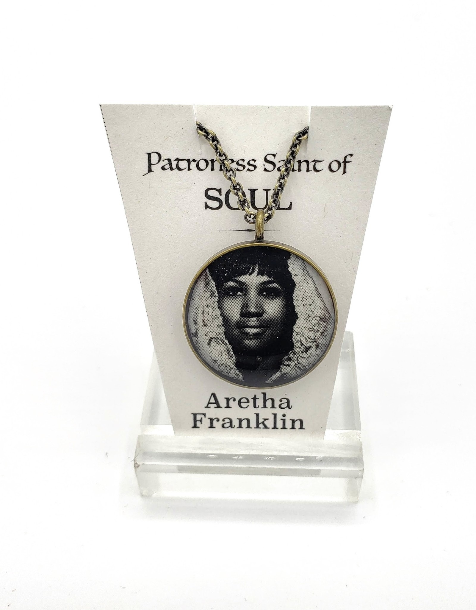 Redux Aretha Franklin Patroness Saint Pendant Necklace