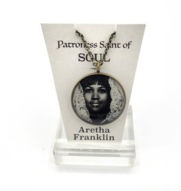 Redux Aretha Franklin Patroness Saint Pendant Necklace