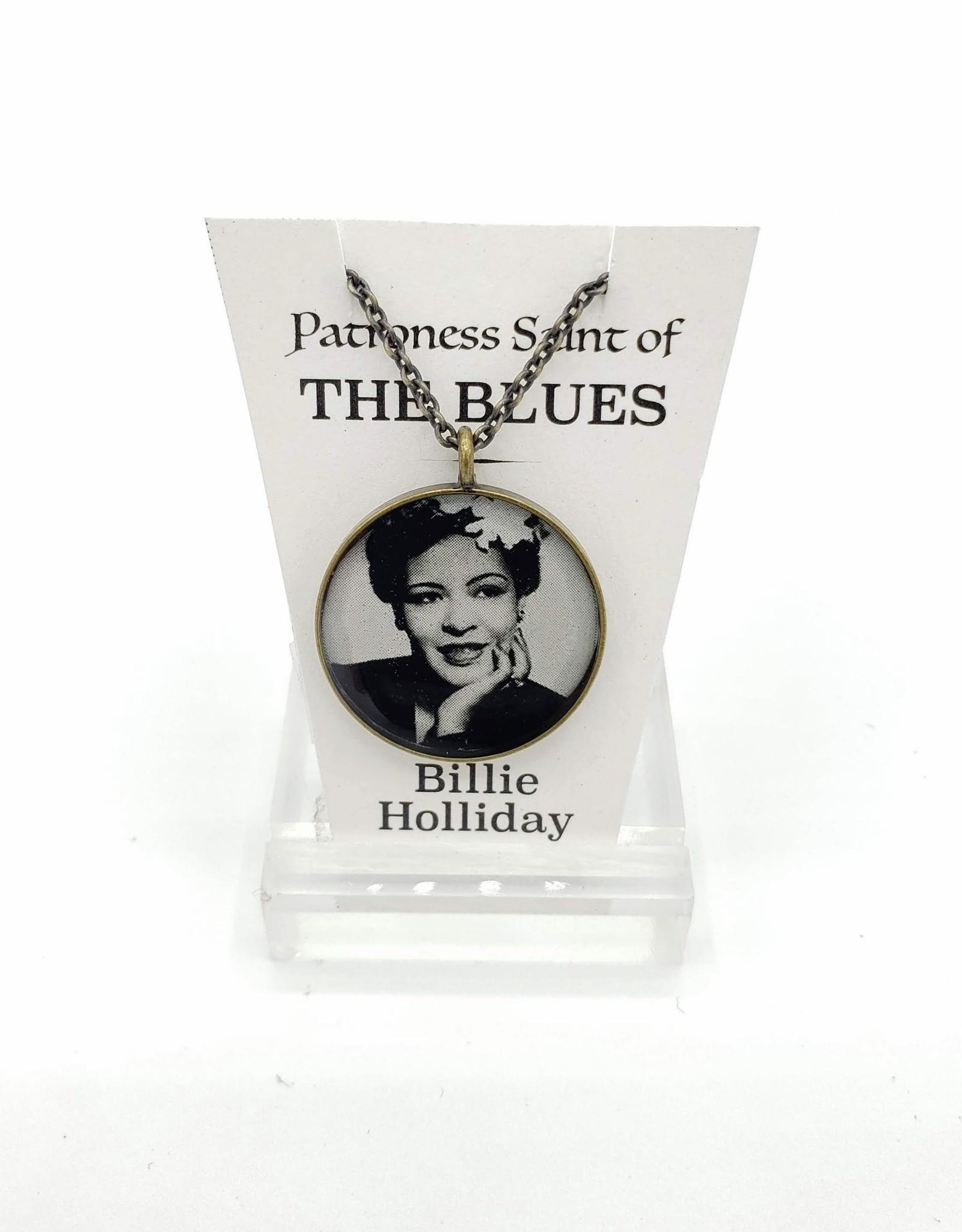 Redux Billie Holliday Patroness Saint Pendant Necklace