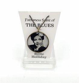 Billie Holliday Patroness Saint Pendant Necklace