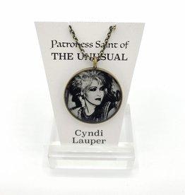 Redux Cyndi Lauper Patroness Saint Pendant Necklace