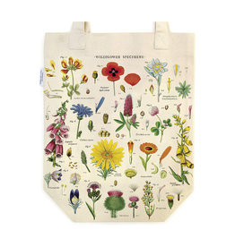 Cavallini Papers Flower Vintage Print Tote Bag