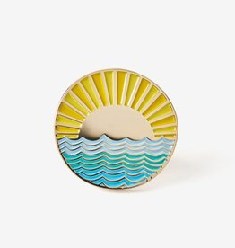 ''Sunrise on Water'' Enamel Pin - The Good Twin